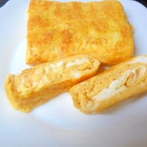 チーズとピーナッツ入り卵焼き