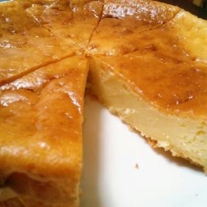 ホットケーキミックスでチーズケーキ