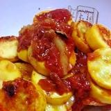 簡単イタリアン ズッキーニのトマトソースソテー