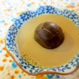 栗の渋皮煮豆乳プリン