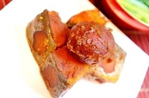 赤ワインにもあう和食、栗渋皮煮とかぼちゃのいとこ煮
