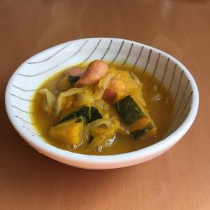 かぼちゃとウインナーの塩麹スープ♪