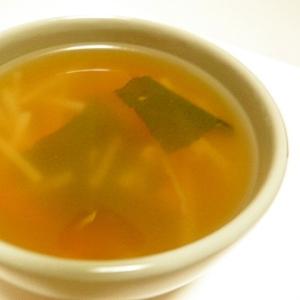 もやしたっぷりの中華スープ