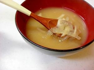 大根ときのこのお味噌汁