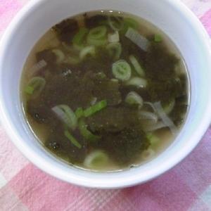 ネギと海苔のスープ