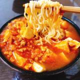 味噌味インスタントラーメンで作る蒙古タンメン中本風