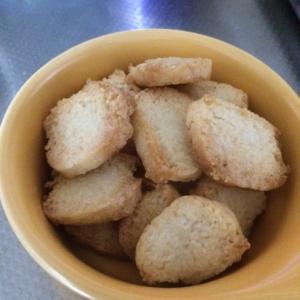 袋とサラダ油でココナッツクッキー★トースターで