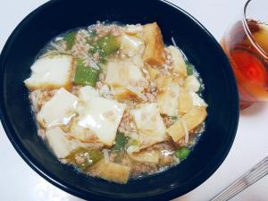 節約☆厚揚げと野菜の中華丼