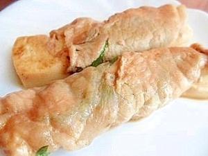 豆腐と大葉の豚肉巻き