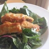 家イタリアン☆クリスピー♪焼きカツレツのサラダ