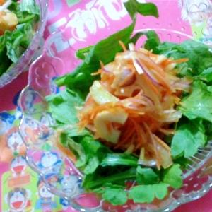 黄ニラと春菊のサラダ