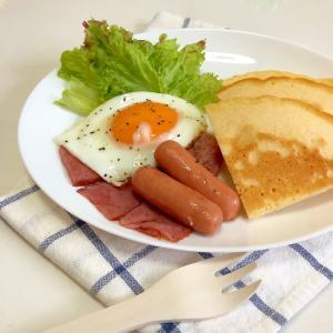 朝食 ホットケーキプレート ♪