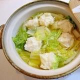 冷凍しゅうまいと白菜鍋