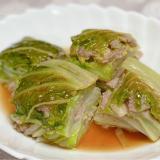 白菜とひき肉のミルフィーユレンジ蒸し