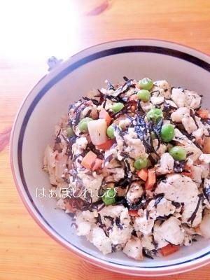 ひじきとグリーンピースいり豆腐✿
