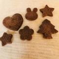 材料4つ☆さっくり型抜きココアクッキー