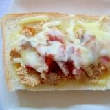 玄米フレーク&福神漬けの味噌チーズトースト