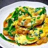 トロ〜リ美味しい「ニラ玉納豆」