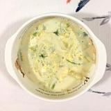 クレソンも入れて、じゃが芋と玉葱の豆乳スープ