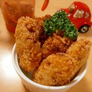 手づかみ食べに☆鶏そぼろ入りスティックコロッケ☆