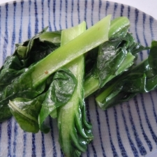 小松菜の白だし炒め