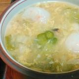 エビ焼売と春雨の中華玉子スープ