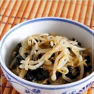 もやしと韓国海苔のナムル