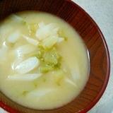 大根のおろぬき菜の味噌汁