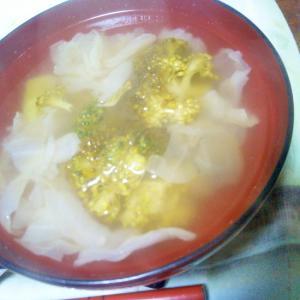 ブロッコリー&キャベツのスープ