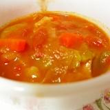前日仕込み くたくた野菜のラタトゥイユスープ