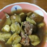 豚肉と水なすの煮物