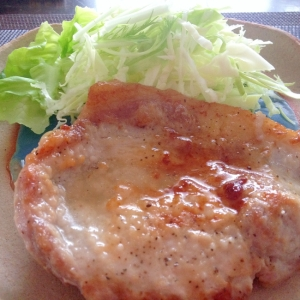 簡単美味しい「豚テキ♪」豚肉のステーキ♪