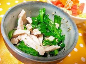 鶏ハムとほうれん草の和え物