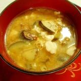 ほっこり秋に・・・満腹おぼろなす味噌汁