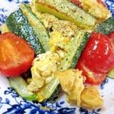 日向の匂い☆ 「干し胡瓜とトマト卵炒め」