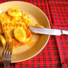 バナナソテー添えフレンチトースト