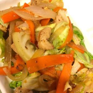 塩鶏ちゃん野菜炒め
