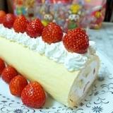 ホットケーキミックスで作る簡単ロールケーキ