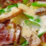 豚肉とじゃがいもの味噌ソースグラタン