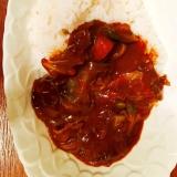 カボチャとキャベツの野菜カレー