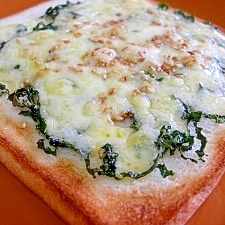 大葉とチーズのトースト