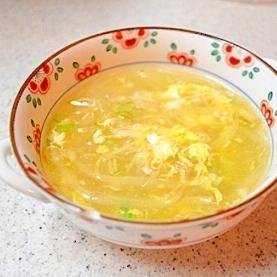 もやし♡えのきのトロトロ春雨スープ