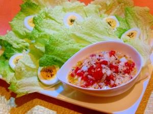 白菜とパプリカのマスタードサラダ