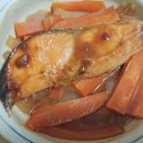 鮭とにんじんのポン酢焼き