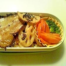 栄養満点!焼き魚のお弁当!手軽にお魚食べましょう!