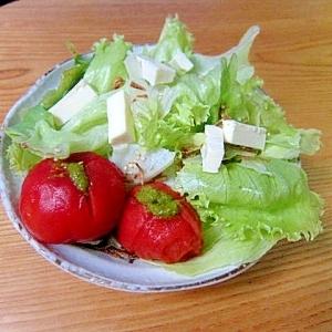 トマトバジルペーストサラダ