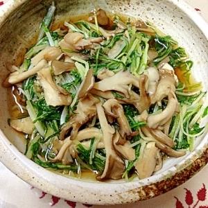 水菜と舞茸の和え物