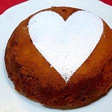 炊飯器で簡単♪ ブランデーココアりんごケーキ
