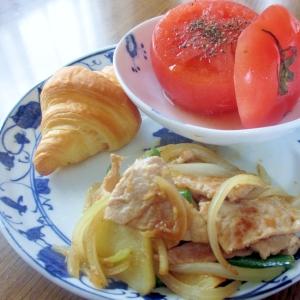 レンチントマトと豚じゃがの生姜炒めのワンプレート