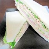 食パンで♪ツナハムチーズのサンドイッチ♪